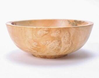 """Birdseye Boxelder Burl Wooden Bowl #1544  5 3/4"""" X 2 1/8"""""""