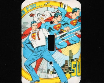 DC Superman Comic Book Switch Plate Wallplate Light Cover Clark Kent Justice League