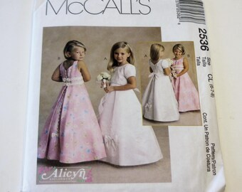 McCall's 2536: Children's and Girls' Dresses Sizes 6,7,8 (UNCUT) 1999