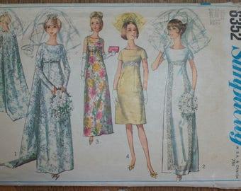 Vintage 1960s Simplicity Wedding Dress Pattern 6352 Size 12