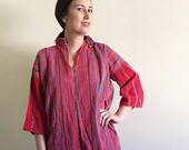 25% SALE Vintage Guatemalan Woven Blouse / Embroidered Blouse/ Vintage Handmade S M