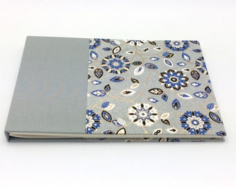 CLEARANCE - Classic Guest Book, Unlined, Matte Silver Floral, In Stock