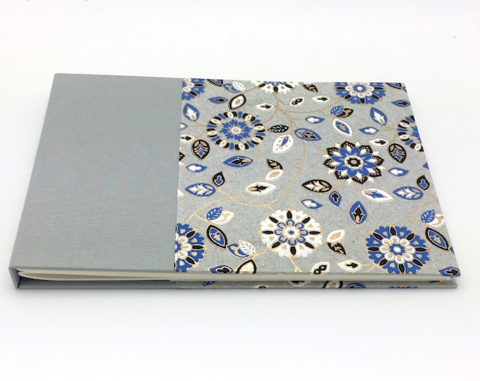 Silver Floral Classic Guest Book - unlined