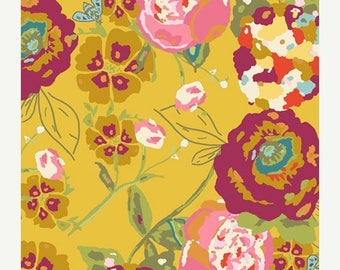 SALE 10% Off - Garden Rocket Ruby  (LB-2100) - Lilly Belle - Bari J for Art Gallery Fabrics - By the Yard