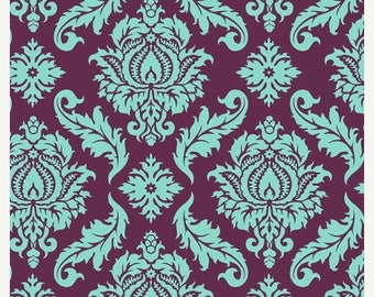 SALE 10% Off - Joel Dewberry - AVIARY 2 - Damask in Plum JD43 - Free Spirit Fabric - By the Yard
