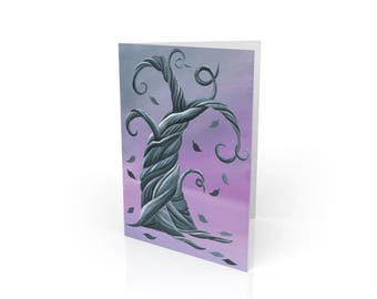 Twisted Winter - Whimsical Tree Blank Card