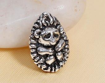 Hedgehog Charm Hedgehog Pendant Silver Hedgehog Charm Hedge Hog Charm Woodland Charm Animal Charm Pet Charm B