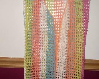 crochet vest, child size large vest, spring vest, summer vest, easy breezy summer vest