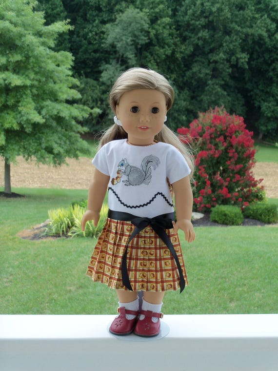 "SUPER SATURDAY SALE! 18"" Size /Embroidered Pleated School Dress  for 18"" American Girl® Dolls"