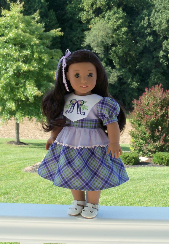"""18"""" Size /  Nanea's Historical School Dress / Clothes for 18"""" American Girl® Dolls"""