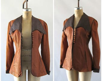 HIPPIE COUTURE Vintage 70s Jacket | 1970's North Beach Leather | Contrasting Collar & Cuffs | NBL, Hippie, Boho, Rocker, Rock Star | Small