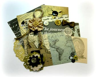 Carta Bella Old World Travel Inspiration Kit/ Embellishment Kit/ for Scrapbooks Cards Mini Albums Planners Tags and Paper crafts