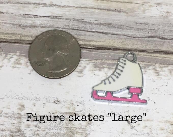 Figure skates charm necklace