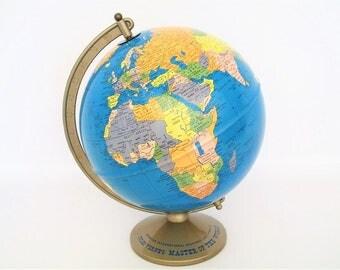 Vintage World Globe - Jules Verne's Master of the World