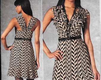 Vogue V1190 Tracy Reese Close Fitting A-Line Dress Sewing Pattern 1190 UNCUT Plus Size 14, 16, 18, 20