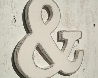 """one painted 10"""" wood ampersand pick your color"""