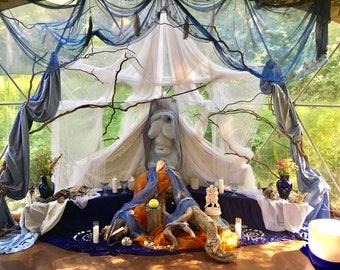 Summer Solstice Altar Photo Print--Goddess Temple of Ashland, Water, Sun, Fire, Divine Feminine, Priestess Arts