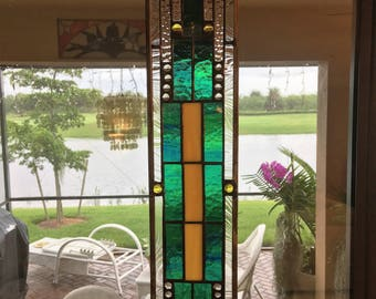 Craftsman stained glass suncatcher   AVAILABLE NOW for immediate shipping....