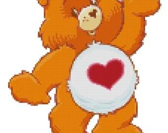 Tender Heart Bear Cross Stitch Pattern (PDF)