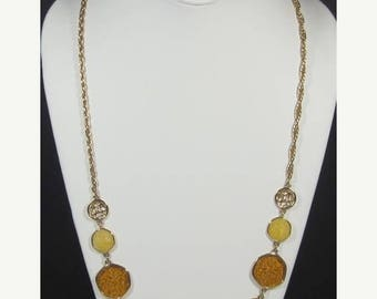 """25% Off Vintage SARAH COVENTRY """"Taste of Honey"""" Necklace and Pierced Earrings"""