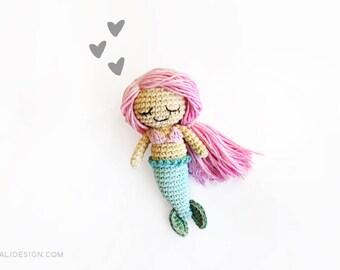 Sandrine the little mermaid | amigurumi pattern