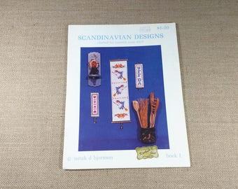Scandanavian Designs Charted for Counted Cross Stitch Patterns Book 1 Netah D Bjornson 1982