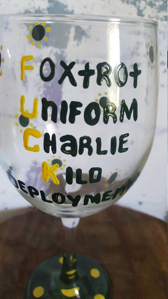 Deployments Suck Wineglass, Army Wife, Military Wife, Navy Wife, Marine Wife,