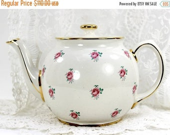 ON SALE Sadler Tea Pot, Chintz Teapot, Vintage Porcelain, Antique Tea Pot, English Tea, James Sadler Pots