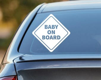 Baby on Board Decal, Baby on Board Sticker, Baby on Board Car Decal, Family Decal, Baby Shower Gift, Car Sticker, Decal, Window Sticker