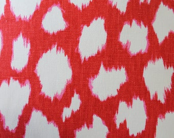 FABRIC - Kravet Leokat Print Designed by Kate Spade in Maraschino Red - 4 Yards Available