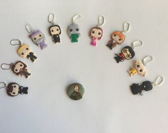 Set of 11 Harry Potter figures stitch markers for crochet and knitting