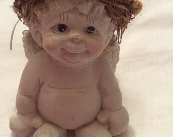 Vintage 1991 Dreamsicle Angel Adorable Little Impish Naked Angel Baby