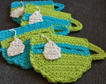 Turquoise and Green Teacup Coasters