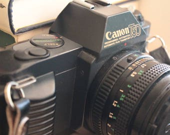 Canon T-50 SLR Camera: 35mm Film Camera