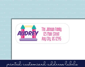 Bounce House Party Return Address Label