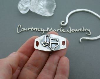 Texas Bracelet - Sterling Silver Cuff Bracelet - Interchangeable Bracelet