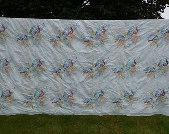 Angel, Hand Embroidered, Quilt Top only, Sold as is