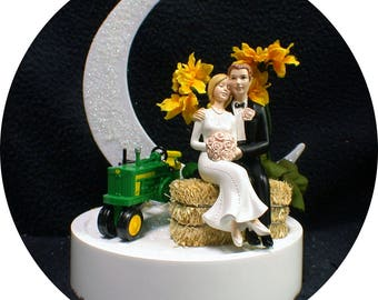 blue tractor wedding cake topper your cake topper by yourcaketopper on etsy 12009