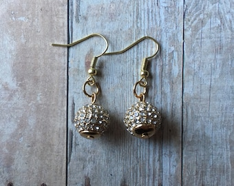 Gorgeous crystal ball earrings