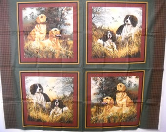 Cranston Dog Retriever Fabric Pillow Panels 44 x 36 Free Shipping USA