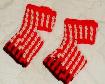 Flip flop socks or Yoga socks hand crocheted