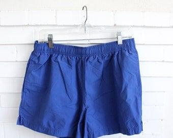 Vintage Polo Sport Shorts Baggies // Swim Trunks Medium // Gym Shorts Blue