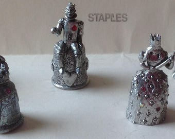 Comstock Pewter Wizard of Oz  Thimbles  7 pieces