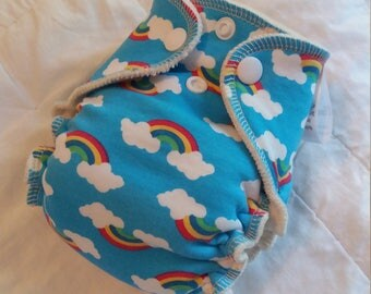 Rainbow Baby OBV Newborn Fitted Diaper