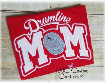 Embroidered Drum line Mom Applique hoodie