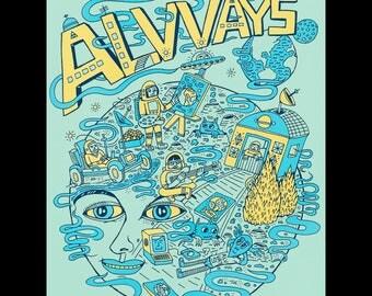 Alvvays Screen Print Poster