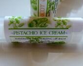 PISTACHIO ICE CREAM Lip Balm, Unsweetened Pistachio Ice Cream Lip Balm, Yummy Lip Balm, Moisturizing