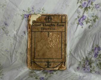 Beautiful Little Old Book by R W Emerson
