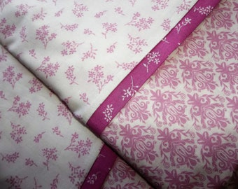 Orchid Floral Queen/Standard pillowcases love Pair romantic bed linens bedding nature cottage chic