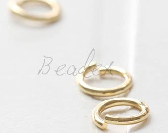 20 Pieces / Real Gold Plated / Jump Rings / Brass Base / Ring / 10x1.5mm  (C429JP//C774)